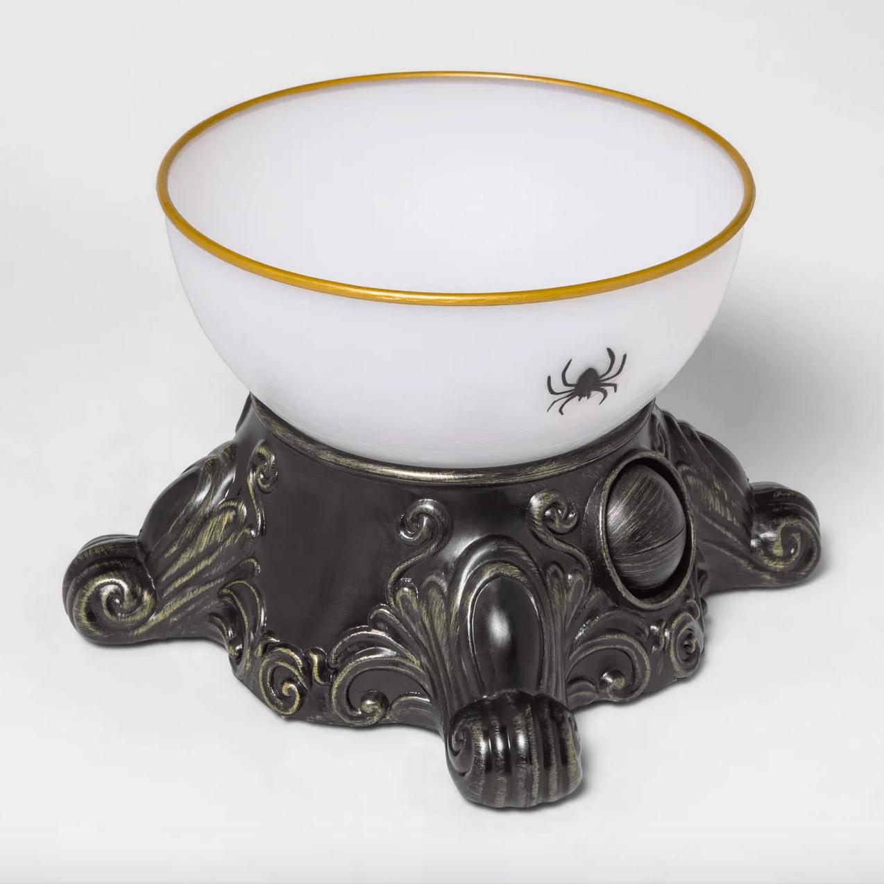 Light-up eyeball Halloween candy bowl