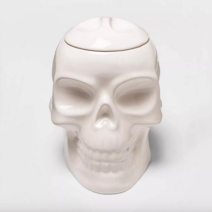 Skull Halloween candy bowl