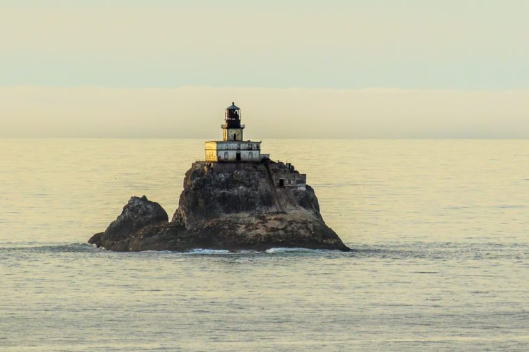 Tillamook Rock Light is a deactivated lighthouse on the Oregon Coast, located approximately 1.2 miles offshore from Tillamook Head.