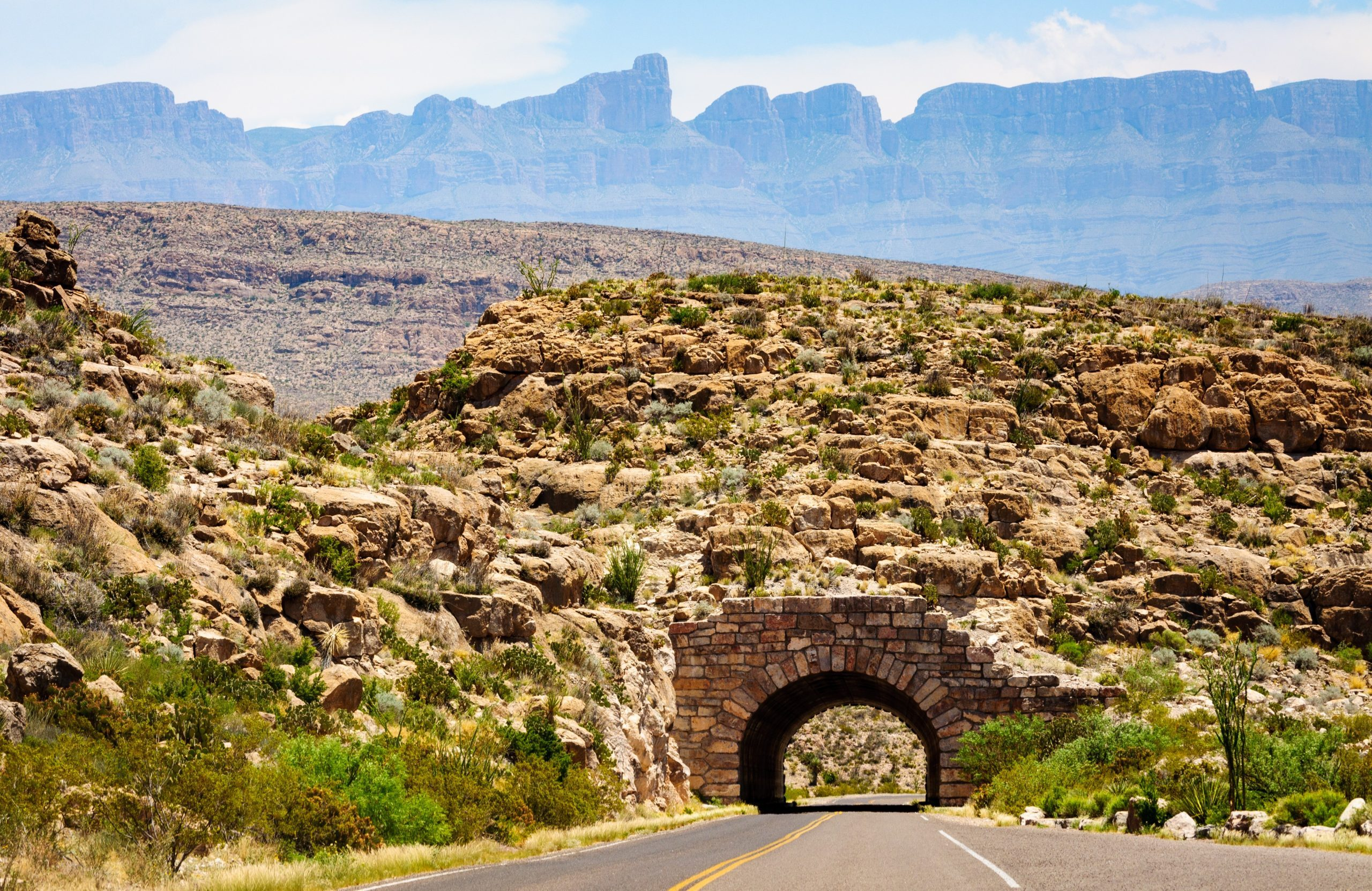 Tunnel with Mountains at Big Bend National Park
