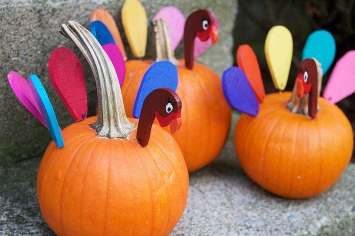 Turkey Pumpkin Decoration