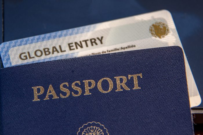 USA Passport With Global Entry Card