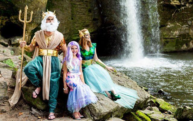 family halloween costume ideas mermaids