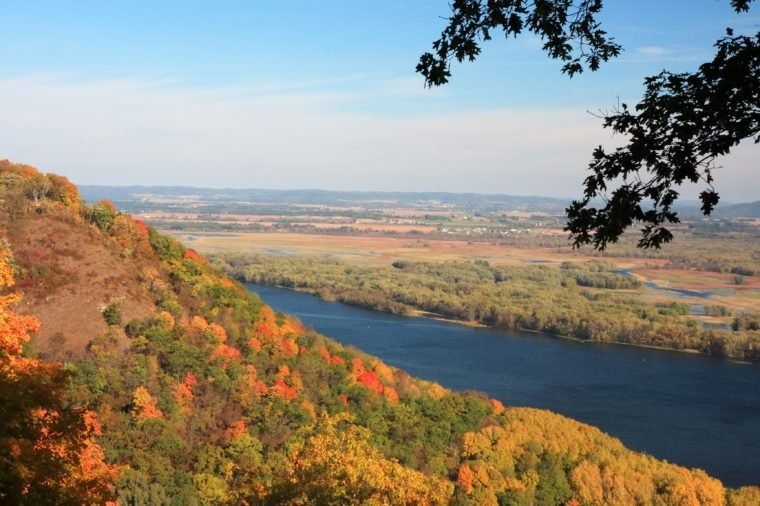 Mississippi river view at fall season