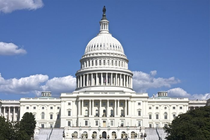 The US Capitol in Washington DC Landscape