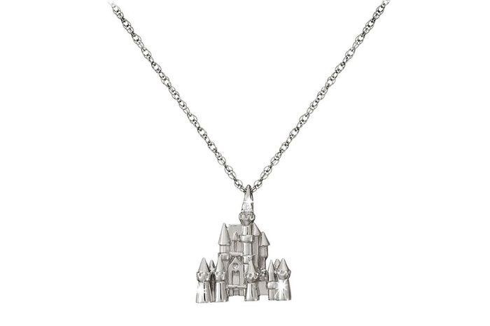cinderella's castle necklace