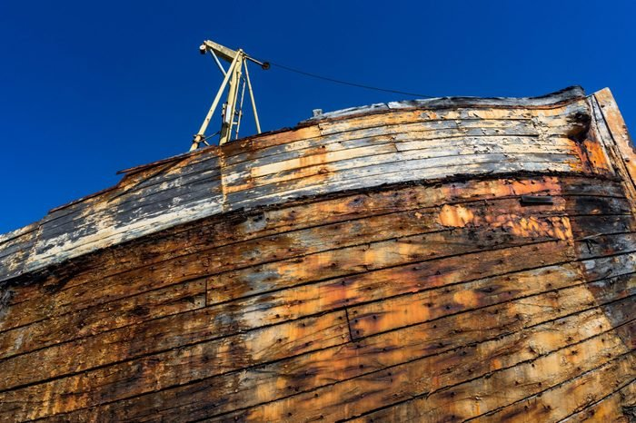 decaying wooden ship texture, close-up on wooden planks of ships hull