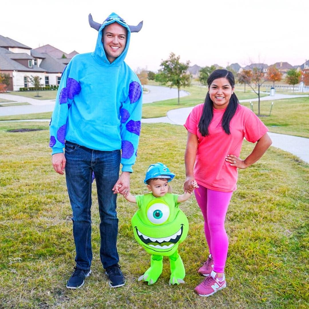 monsters inc family halloween costume idea