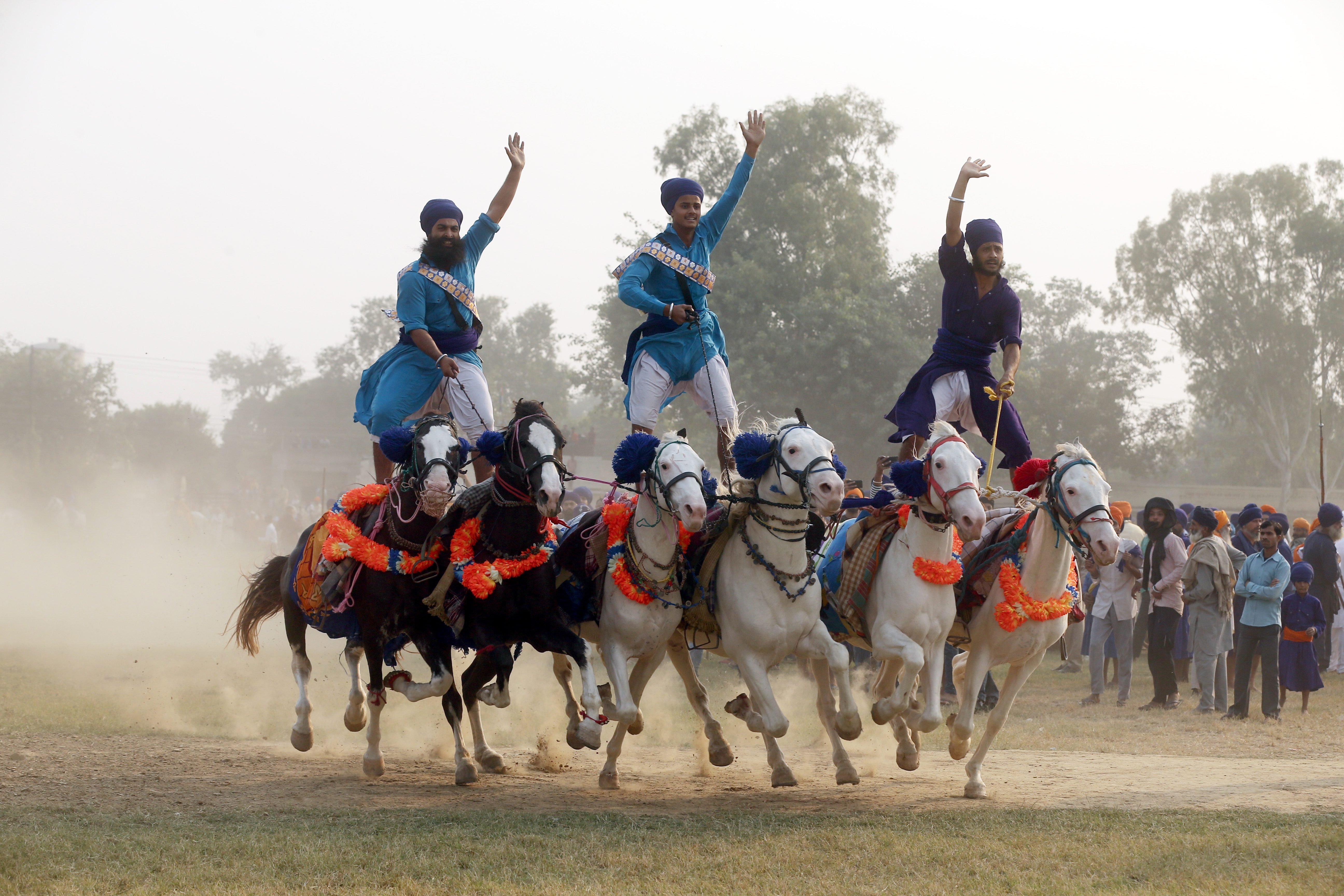 Fateh Divas or 'Victory Day' celebrations in Amritsar, India - 08 Nov 2018