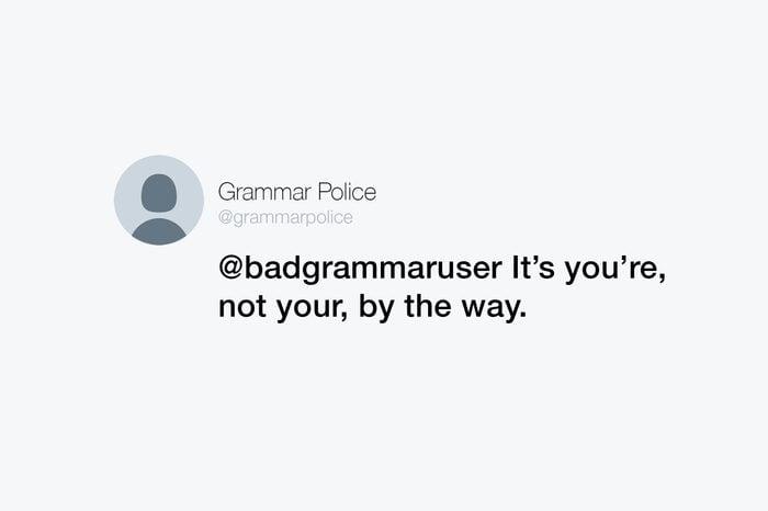 grammar police tweet