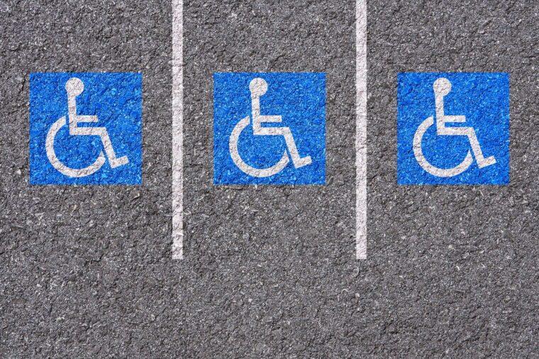 handicapped parking area