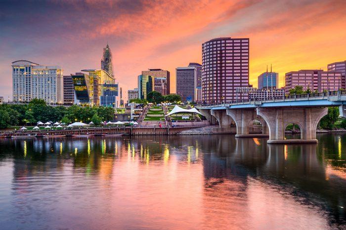 Hartford, Connecticut, USA downtown skyline.