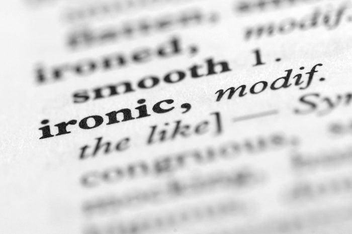 Dictionary Series - Ironic