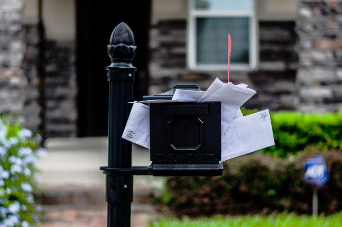 filled mailbox