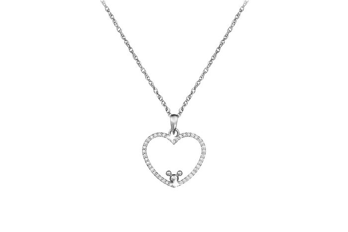 mickey mouse heart necklace