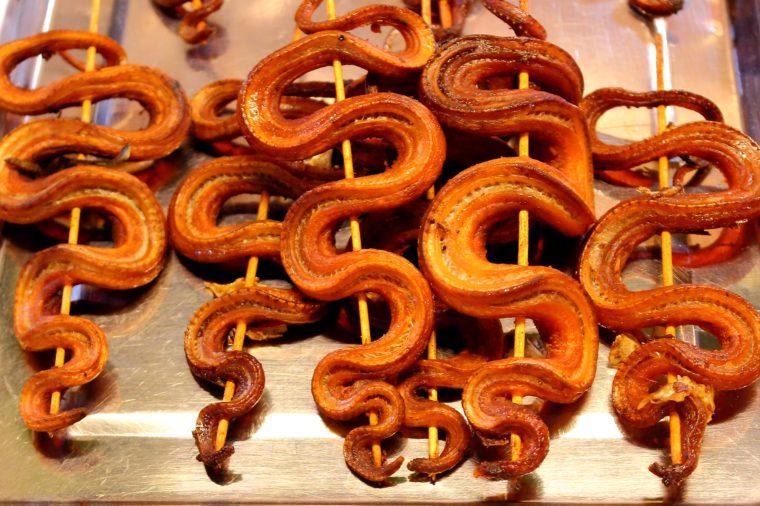 fried snake