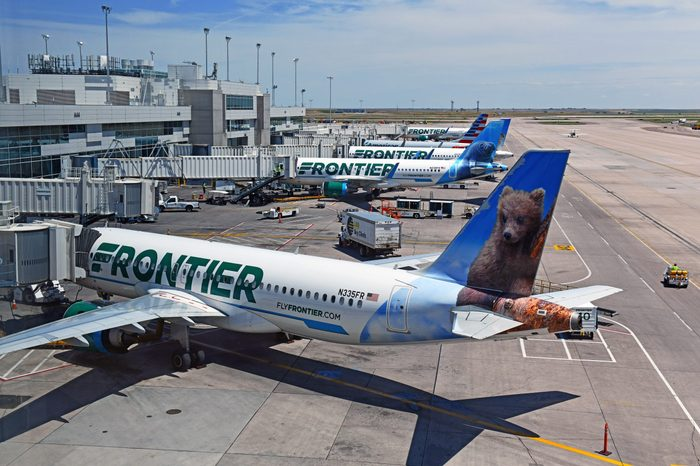 frontier airlines budget airline