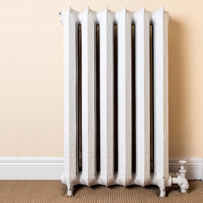 old fashioned steam or hot water heating cast iron radiator