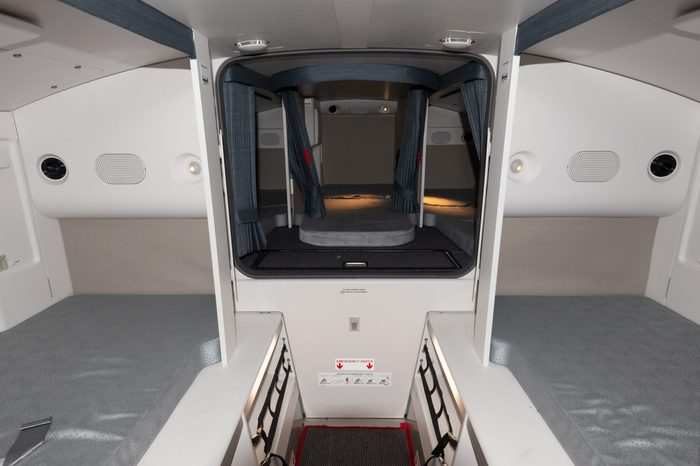 airplane cabin crew rest area