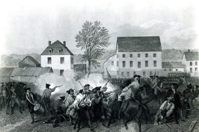 Engraving Of The Battle Of Lexington