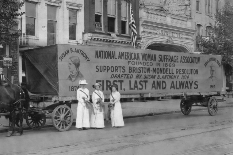 National American Woman Suffrage Association float