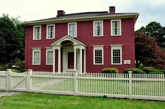 Colonial-era wood frame