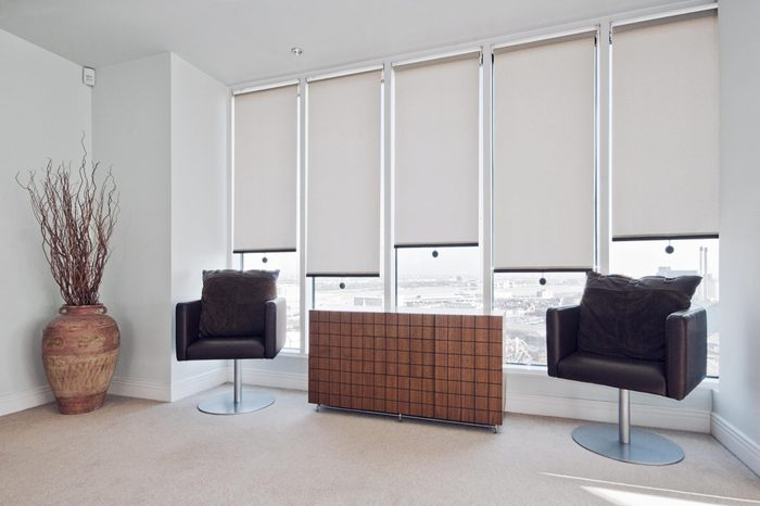 blinds in sitting room