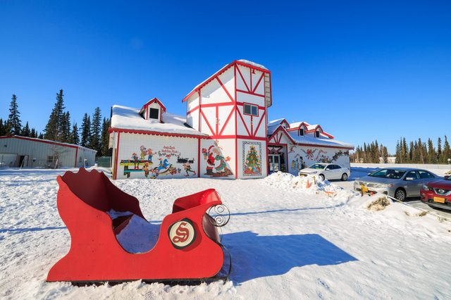 The beautiful santa claus house on MAR 18, 2015 at Fairbanks