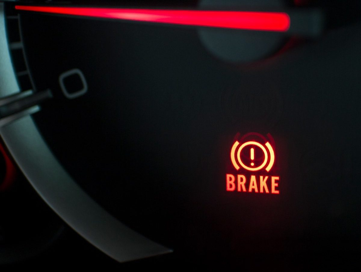 brake light on