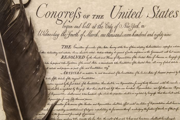 Bill of Rights close up