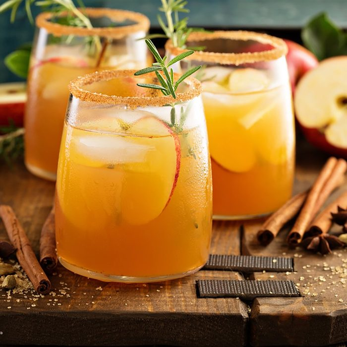 Hard apple cider cocktail with fall cinnamon, cardamom and star anise