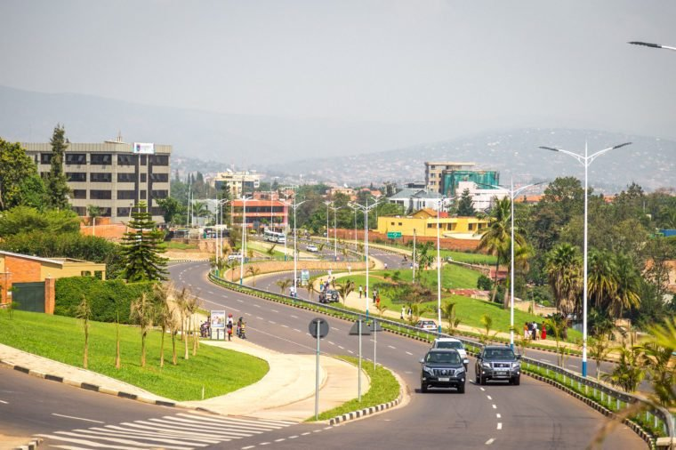 A view towards town and some university buildings in Kigali.