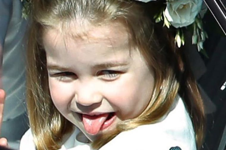 princess charlotte sticking tongue out