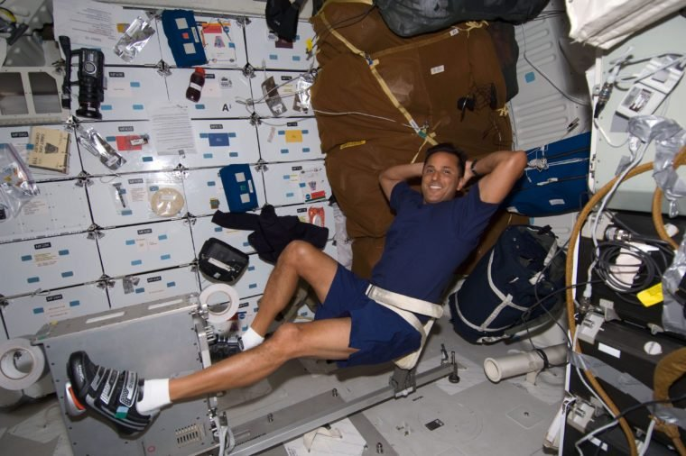 exercising in space
