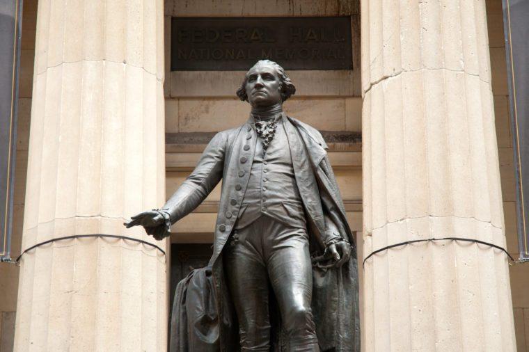 Federal Hall and George Washington statue