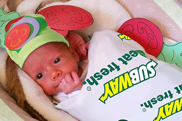 subway sandwich baby costume