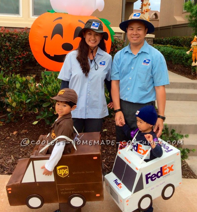 Mail Carriers and Delivery Workers Family Costume
