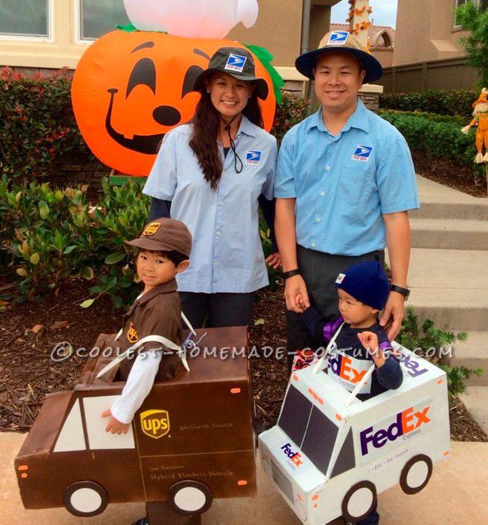 ups fedex usps family halloween costume idea