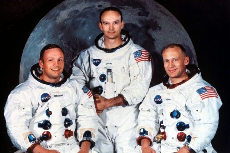 Apollo 11 lunar landing mission. Neil Armstrong, commander; Michael Collins, command module pilot; and Edwin Buzz Aldrin
