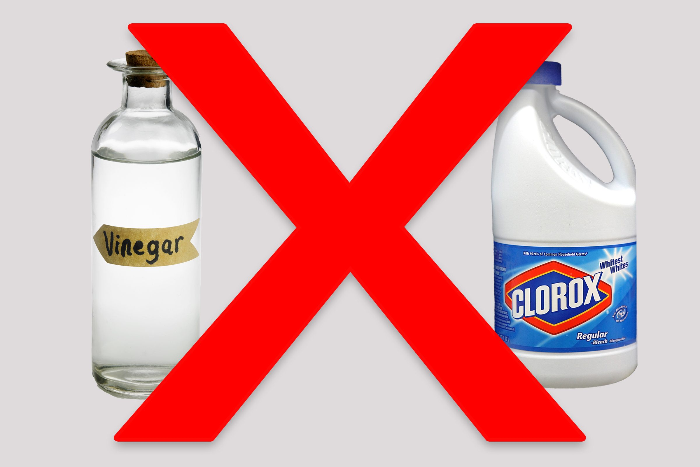 vinegar bleach cleaning products don't mix