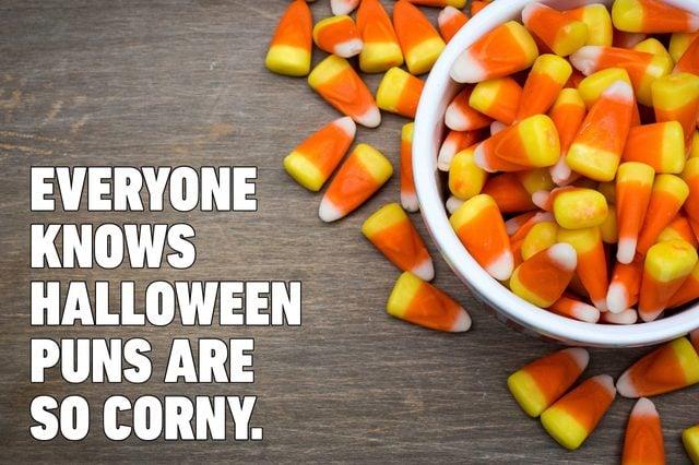 candy corn halloween pun
