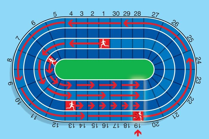 track and field answer illustration