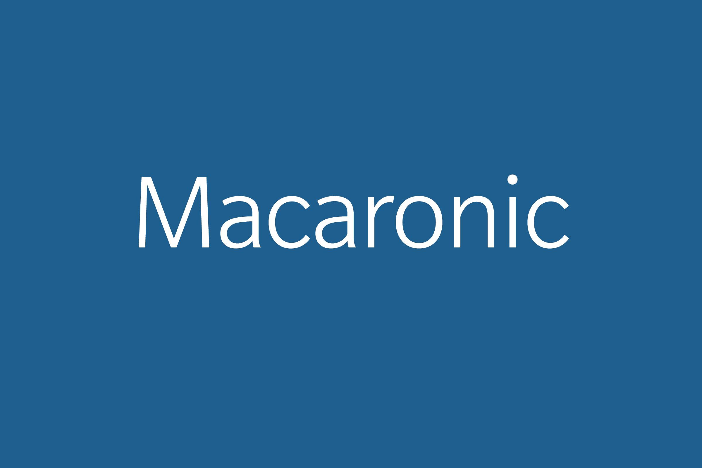 macaronic funny word Funny words