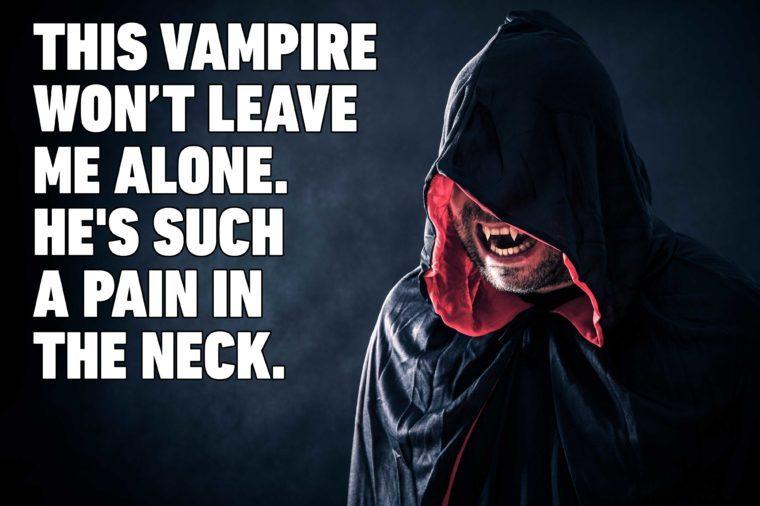 vampire halloween pun
