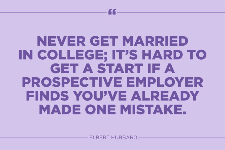 elbert hubbard marriage quote