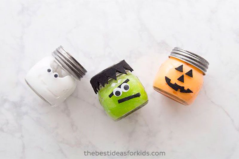 halloween slime craft idea for kids
