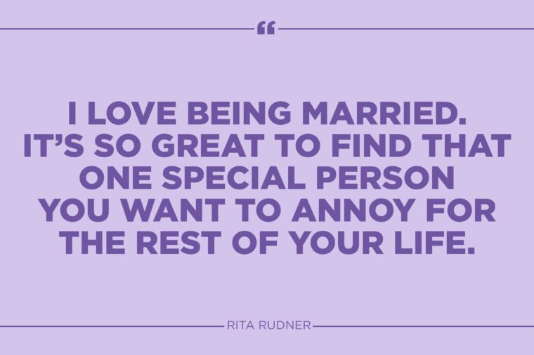 rita rudner marriage quote