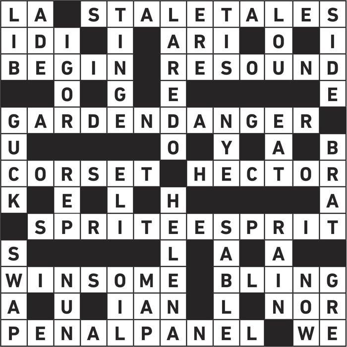 crossword answers. Feb 2020.