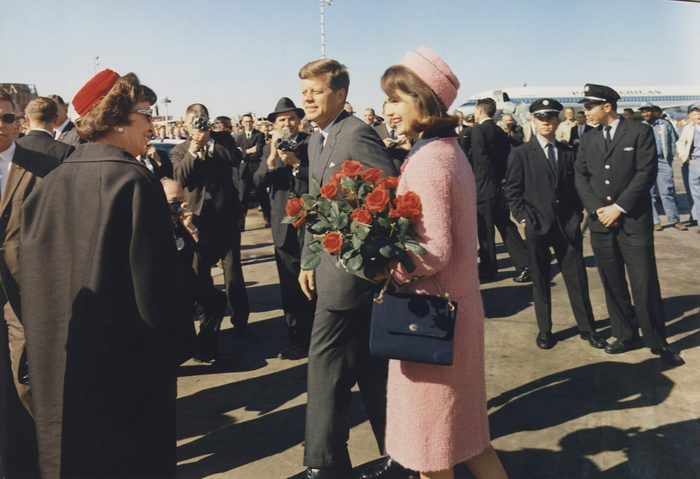 President and Jacqueline Kennedy pink chanel suit