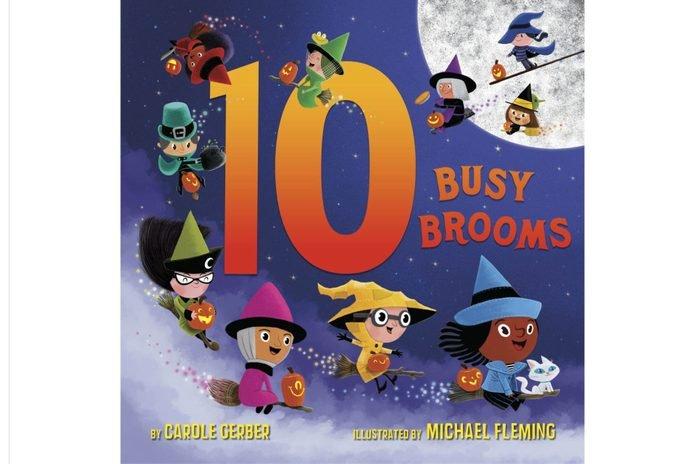 10 Busy Broomsby Carole Gerber and illustrated by Michael Fleming